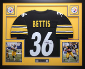 Jerome Bettis Autographed and Framed Black Steelers Jersey Auto JSA Certified