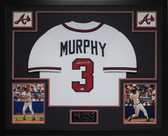 Dale Murphy Autographed and Framed White Braves Jersey Auto MLB COA (D2-3)