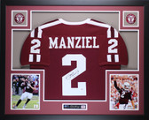 Johnny Manziel Autographed and Framed Maroon Aggies Jersey Auto PSA Certified