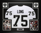 Howie Long Autographed and Framed White Raiders Jersey Auto JSA COA D4-L