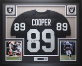 Amari Cooper Autographed and Framed Black Raiders Jersey Auto JSA COA