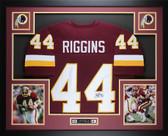 John Riggins Autographed and Framed Redskins Jersey Auto JSA COA (D1-L)