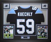 Luke Kuechly Autographed & Framed Black Panthers Jersey Auto JSA COA D2-L