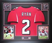 Matt Ryan Autographed & Framed Red Falcons Jersey Auto Fanatics COA D4-L