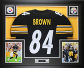 Antonio Brown Autographed & Framed Black Steelers Jersey Auto JSA COA D1-L