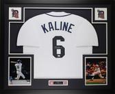 Al Kaline Autographed & Framed White Tigers Jersey Auto JSA COA D4-L