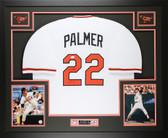 "Jim Palmer Autographed ""HOF 90"" & Framed White Orioles Jersey Auto JSA COA D2-L"