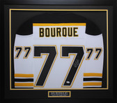 Ray Bourque Autographed & Framed White Bruins Jersey JSA COA D1-M