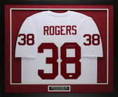 "George Rogers Autographed ""80 HT"" & Framed White South Carolina Jersey COA JSA D1-M"