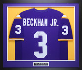 Odell Beckham Jr Autographed and Framed Purple LSU Jersey Auto JSA COA D1-M