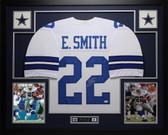 Emmitt Smith Autographed & Framed White Cowboys Jersey Auto JSA COA D9-L
