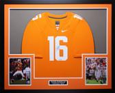 Peyton Manning Auto & Framed Orange Tennessee Jersey Steiner COA D17