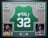 Kevin McHale Autographed & Framed Greem Celtics Jersey Auto JSA COA D4-L