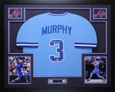 Dale Murphy Autographed & Framed Blue Braves Jersey Auto MLB COA D3-L