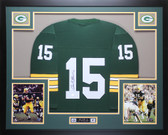 Bart Starr Autographed and Framed Green Packers Jersey Auto Steiner COA D1-L