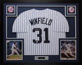 Dave Winfield Autographed and Framed Yankees White Pinstriped Jersey JSA COA