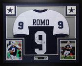 Tony Romo Autographed and Framed Thanksgiving Cowboys Jersey Auto JSA COA D3-L