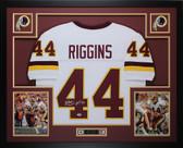John Riggins Autographed HOF 92 and Framed White Redskins Jersey PSA COA D6