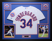 Noah Syndergaard Autographed and Framed Mets Jersey Auto Fanatics COA D1