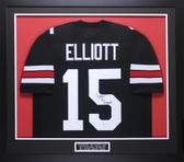 Ezekiel Elliott Autographed & Framed Black Ohio State Jersey JSA COA D3-M