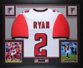 Matt Ryan Autographed and Framed White Falcons Jersey Auto JSA Certified