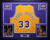 Kareem Abdul-Jabbar Autographed & Framed Gold Lakers Jersey Auto Fanatics COA