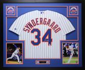 Noah Syndergaard Autographed & Framed White Mets Jersey Auto Fanatics COA D2
