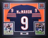 "Jim McMahon Autographed ""SBXX"" & Framed Navy Bears Jersey Auto JSA COA D3-L"