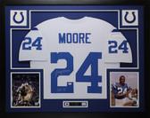 "Lenny Moore Autographed ""HOF 75"" & Framed White Colts Jersey Auto JSA COA D1-L"