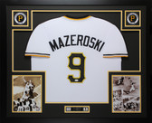 Bill Mazeroski Autographed & Framed White Pittsburgh Pirates JSA COA D1-L