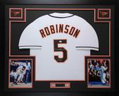 Brooks Robinson Autographed & Framed White Orioles Jersey Auto JSA COA D4-L