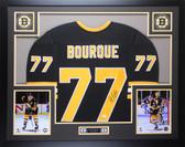 Ray Bourque Autographed & Framed Black Bruins Jersey JSA COA D1-L