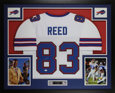 Andre Reed Autographed and Framed White Bills Jersey Auto JSA COA D4-L