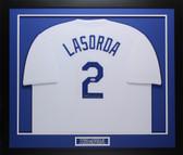 Tommy Lasorda Autographed & Framed White Dodgers PSA COA D1-M