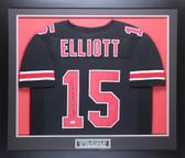Ezekiel Elliott Autographed & Framed Black Ohio State Jersey JSA COA D4-M