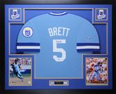 George Brett Autographed & Framed Blue Royals Jersey Beckett COA D6-L