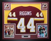 John Riggins Autographed HOF 92 and Framed Maroon Redskins Jersey PSA COA D7
