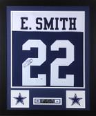 Emmitt Smith Autographed & Framed Thanksgiving Cowboys Jersey Auto PSA COA D12