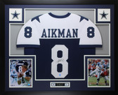 Troy Aikman Autographed and Framed Thanksgiving Cowboys Jersey JSA COA D14-L