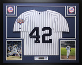 Mariano Rivera Autographed and Framed White P/S NY Yankees Steiner COA D10-L