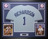 Bobby Richardson Autographed & Framed Gray Yankees Jersey JSA COA D1-L