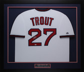 Mike Trout Autographed and Framed White Angels Jersey Auto MLB COA D18-M
