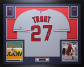 Mike Trout Autographed and Framed Gray Angels Jersey Auto MLB COA D19-L
