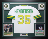 Rickey Henderson Autographed and Framed White HOF 2009 Oakland A's Fanatics D2