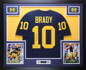 Tom Brady Autographed & Framed Navy Michigan Jersey Auto Steiner COA D19-L