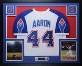 Hank Aaron Autographed & Framed White Braves Jersey Auto JSA COA D1-L
