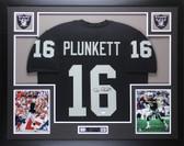 Jim Plunkett Autographed & Framed Black Raiders Jersey JSA COA D4-L
