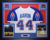 Hank Aaron Autographed & Framed White Braves Auto JSA COA D3-L