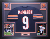 Jim McMahon Autographed and Framed Navy Bears Jersey Auto JSA COA D4-L