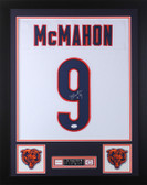 Jim McMahon Autographed and Framed White Bears Jersey Auto JSA COA D1-S